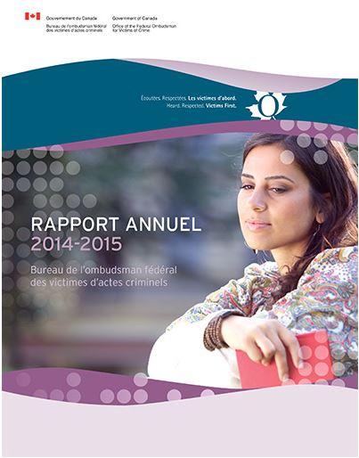 Couverture du Rapport annuel (2014-2015)